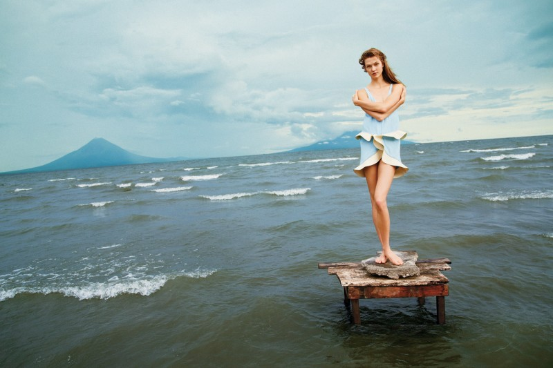 KarlieMcGinley1 Karlie Kloss Takes to Nicaragua for T Magazines Winter 2012 Cover Shoot by Ryan McGinley