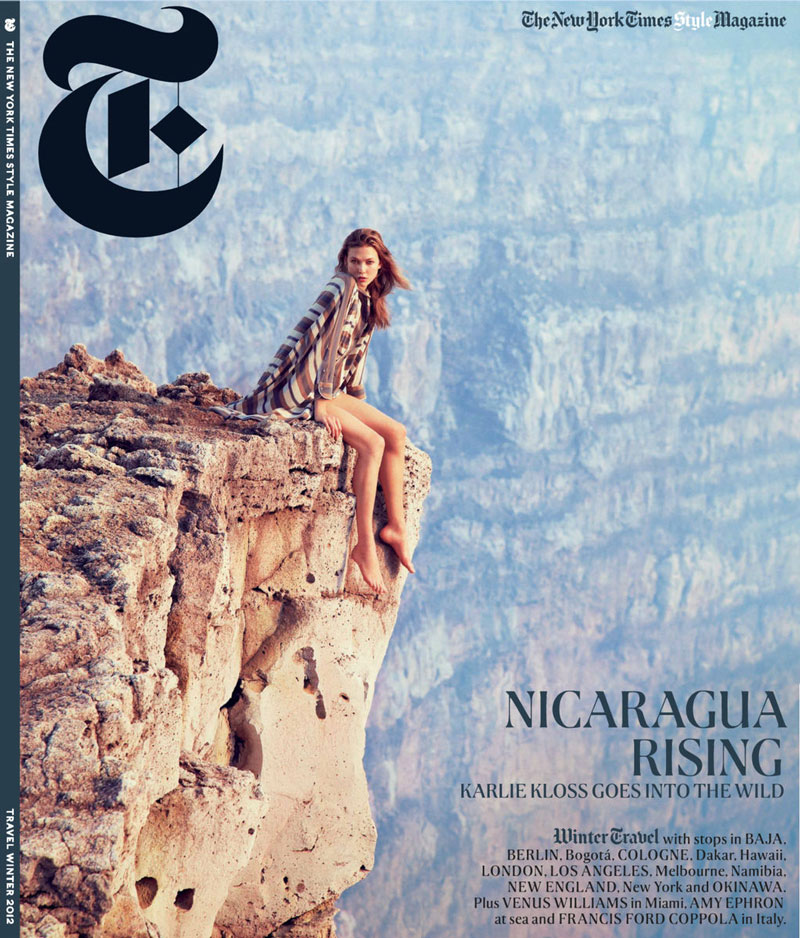 KarlieMcGinley9 Karlie Kloss Takes to Nicaragua for T Magazines Winter 2012 Cover Shoot by Ryan McGinley