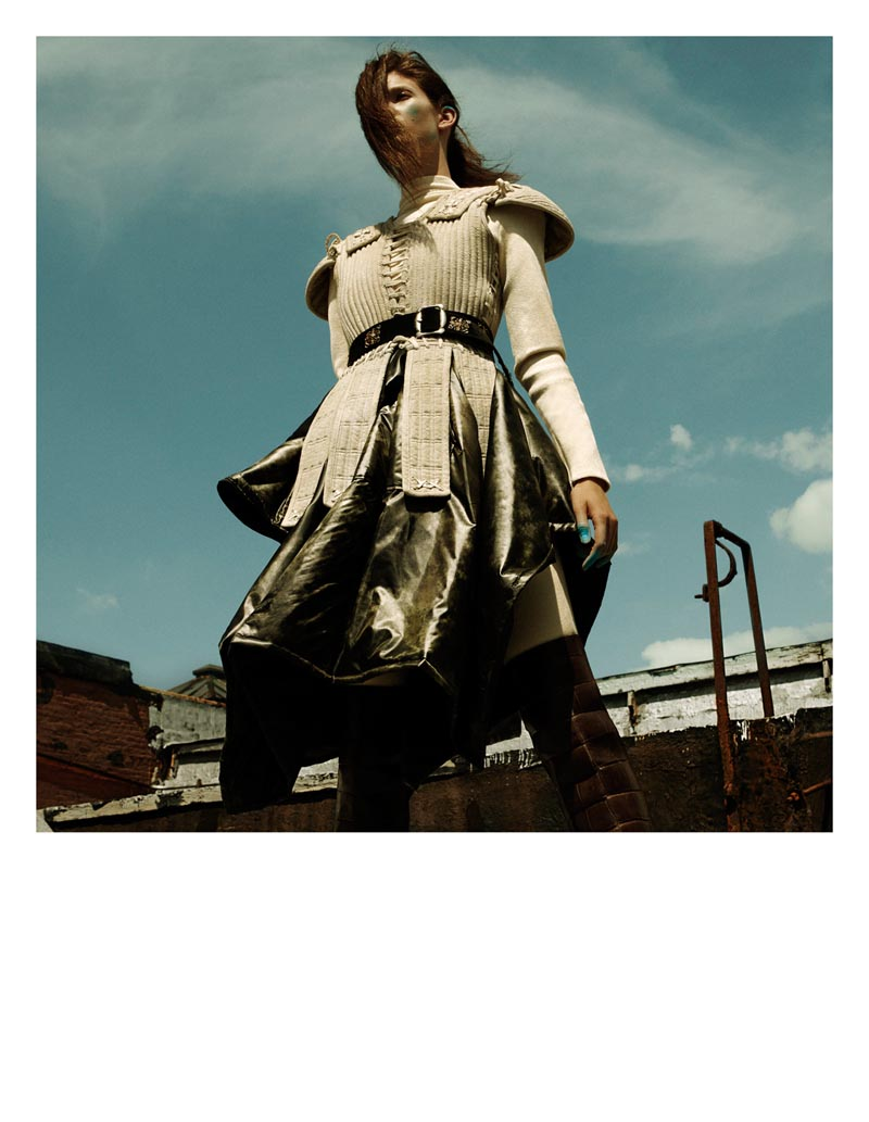 KendraKadel3 Kendra Spears Puts on Her Armor for i Ds Winter Issue, Lensed by Greg Kadel