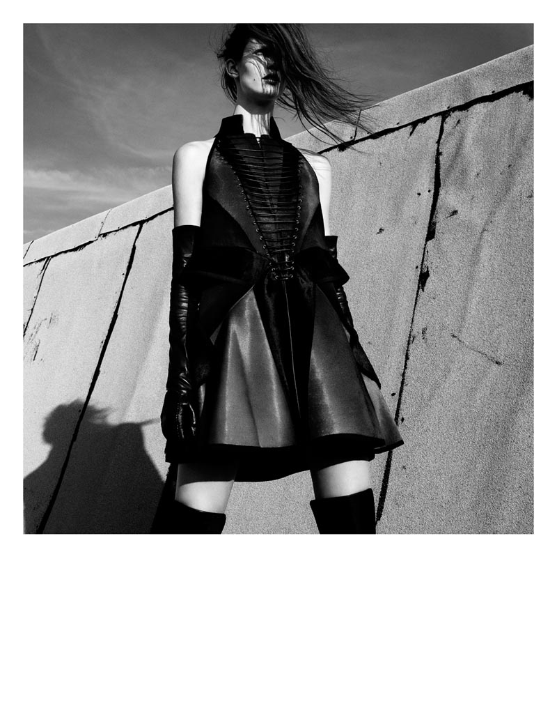 KendraKadel7 Kendra Spears Puts on Her Armor for i Ds Winter Issue, Lensed by Greg Kadel
