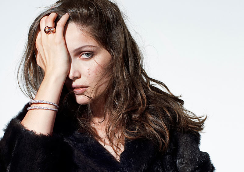 LaetitiaCasta6 Laetitia Casta Sports Fur and Gems for Eric Guillemain in The Sunday Times Style