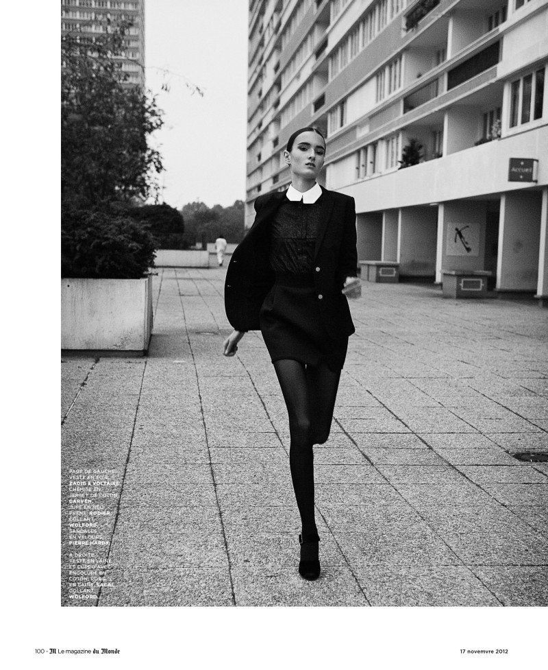 LeMonde1 Maja Milosavljevic Wears Black and White Style for Ward Ivan Rafiks M le Monde Shoot