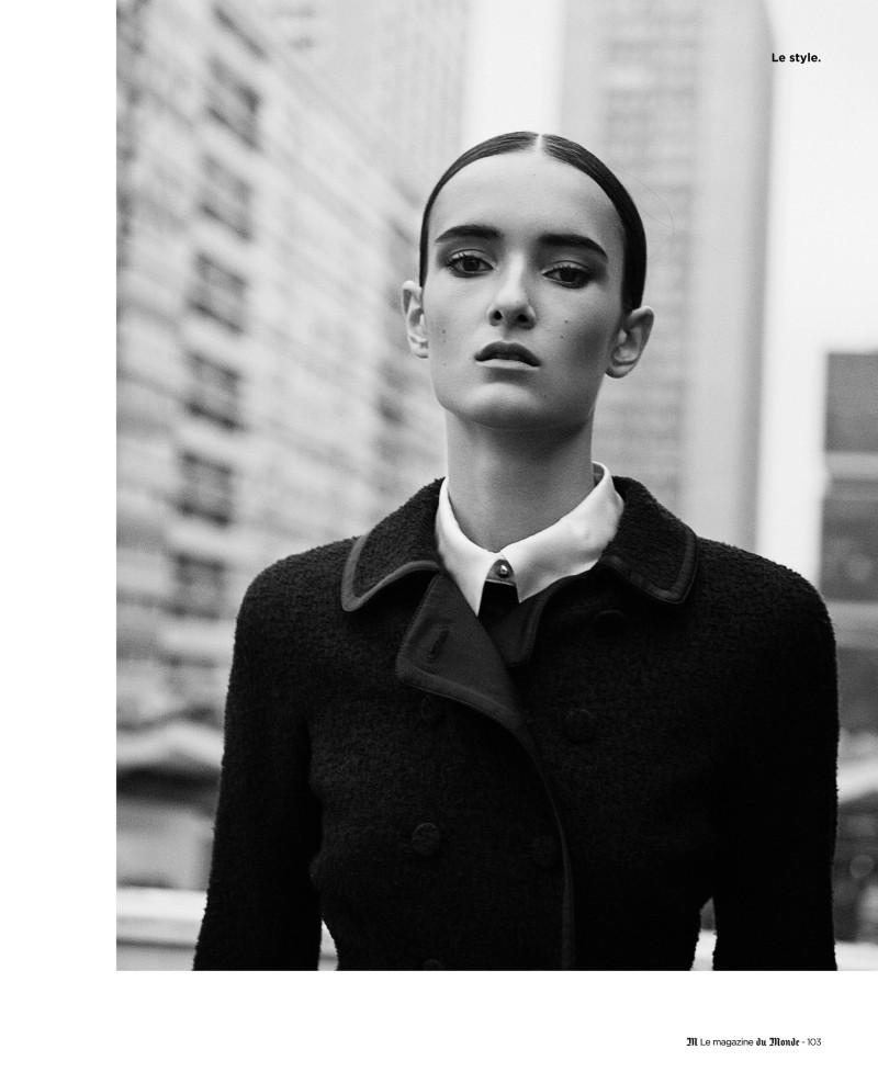 LeMonde4 Maja Milosavljevic Wears Black and White Style for Ward Ivan Rafiks M le Monde Shoot