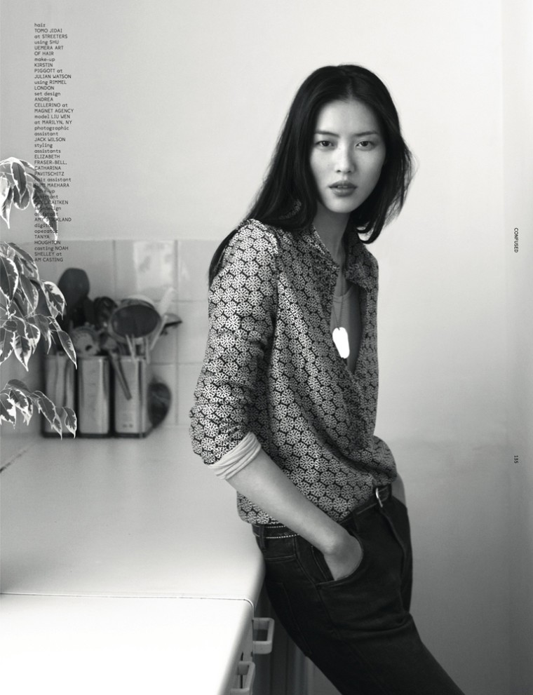 LiuDazed10 Liu Wen Goes from Day to Couture for Dazed & Confuseds December Issue