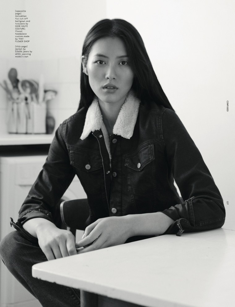 LiuDazed2 Liu Wen Goes from Day to Couture for Dazed & Confuseds December Issue