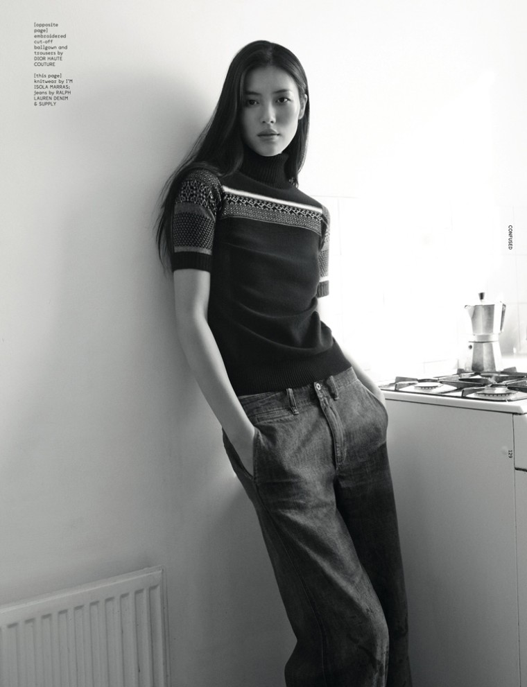 LiuDazed4 Liu Wen Goes from Day to Couture for Dazed & Confuseds December Issue