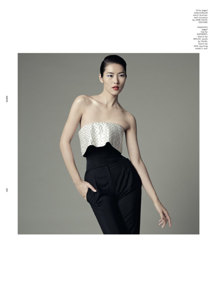LiuDazed5 Liu Wen Goes from Day to Couture for Dazed & Confuseds December Issue
