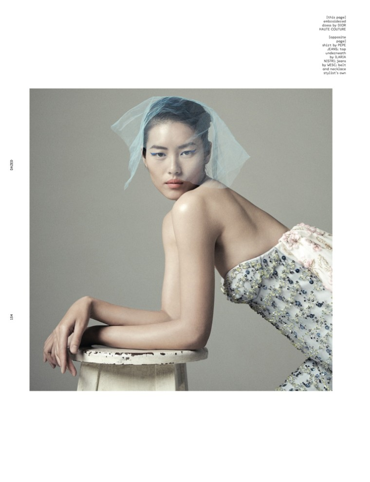 LiuDazed9 Liu Wen Goes from Day to Couture for Dazed & Confuseds December Issue