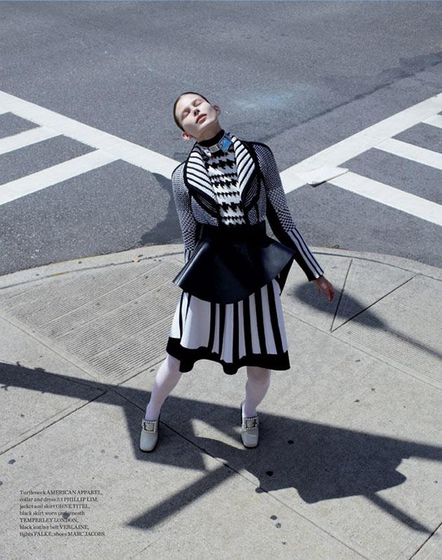 MonikaMetal10 Monika Sawicka Dons Eccentric Style for Metal Magazine #28 by Marton Perlaki
