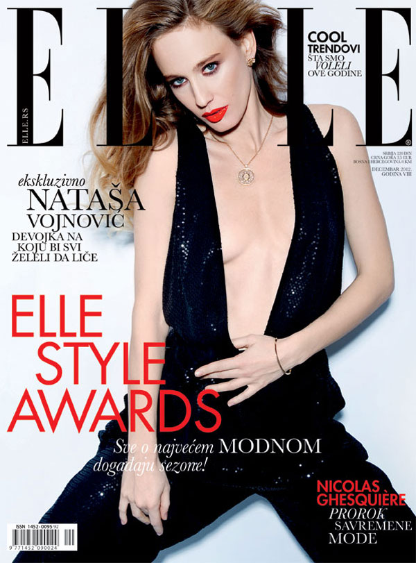 NatashaElle11 Natasa Vojnovic is Belle de Jour for Elle Serbias December 2012 Cover Shoot