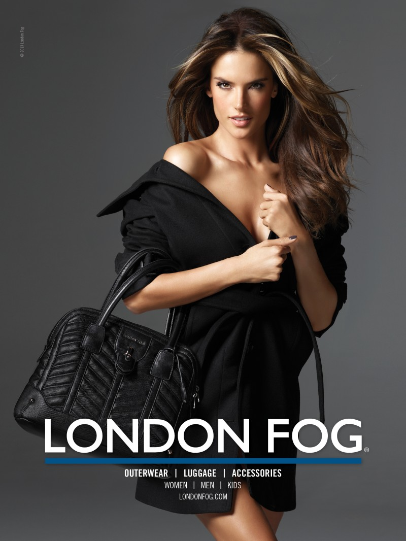 alessandra ambrosio1 Alessandra Ambrosio Poses with Her Daughter Anja in London Fogs Winter 2012 Campaign