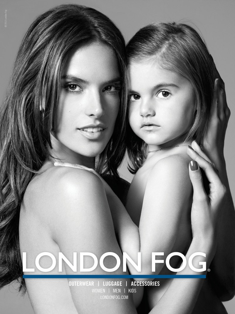 alessandra ambrosio2 Alessandra Ambrosio Poses with Her Daughter Anja in London Fogs Winter 2012 Campaign