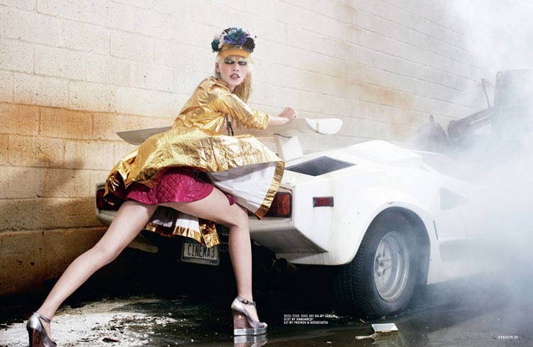 aline ten3 Aline Weber is Car Crazy for 10 Magazine by Christian Anwander
