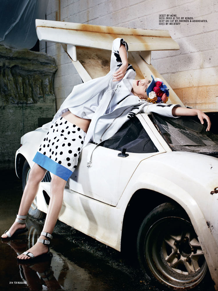 aline ten8 Aline Weber is Car Crazy for 10 Magazine by Christian Anwander