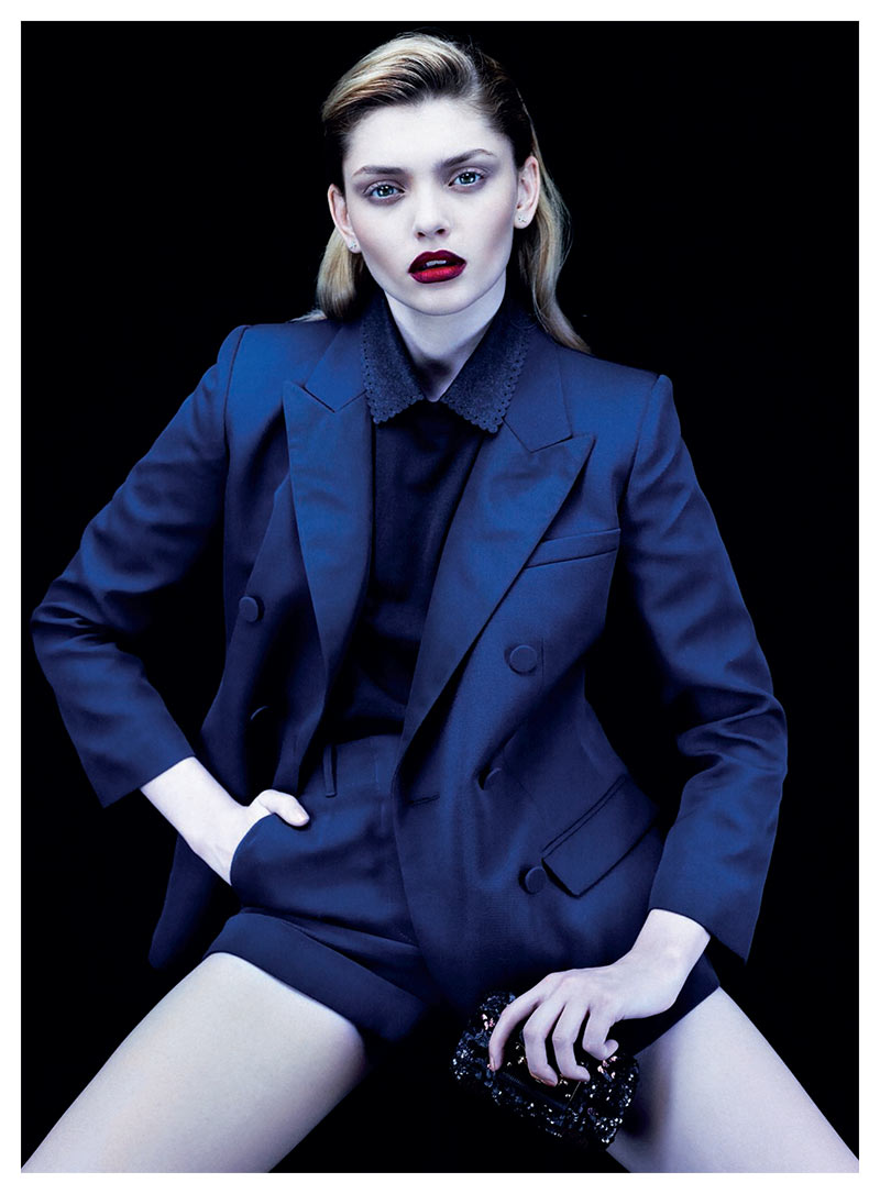 alvaro gioia3 Valeriia Karaman Has the Blues for Gioia Magazine by Alvaro Beamud Cortes