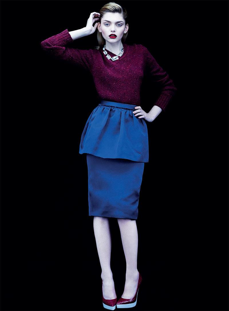 Valeriia Karaman Has the Blues for Gioia Magazine by Alvaro Beamud Cortes