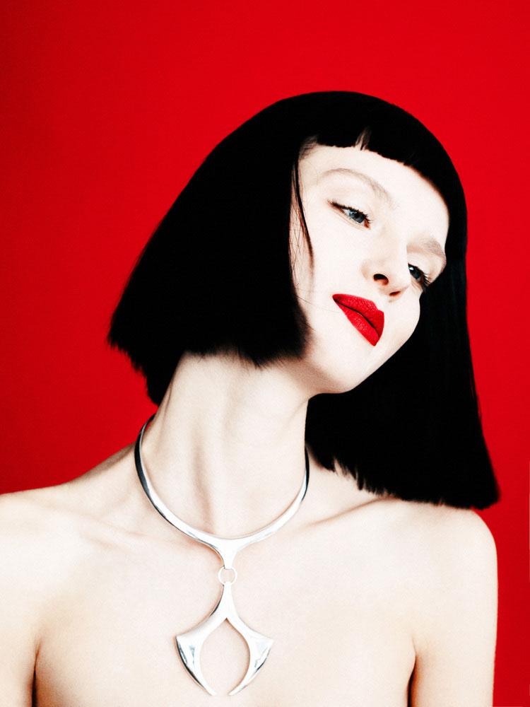 Amanda Norgaard Models Shear Style for WWD Beauty Inc., Lensed by Billy Kidd