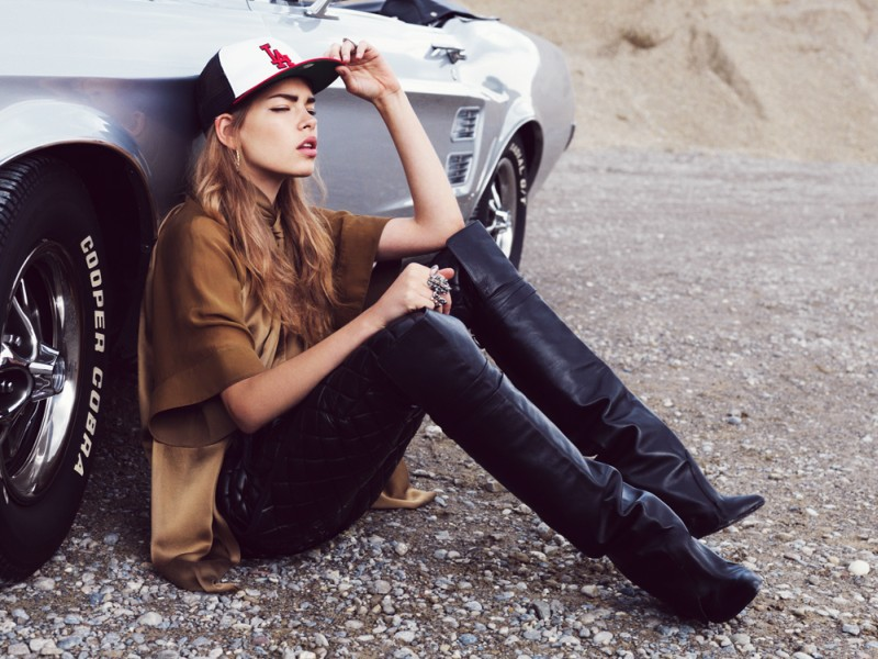 Valerija Sestic Dons Western Style in Nadine Ottawa's Annabelle Magazine Shoot