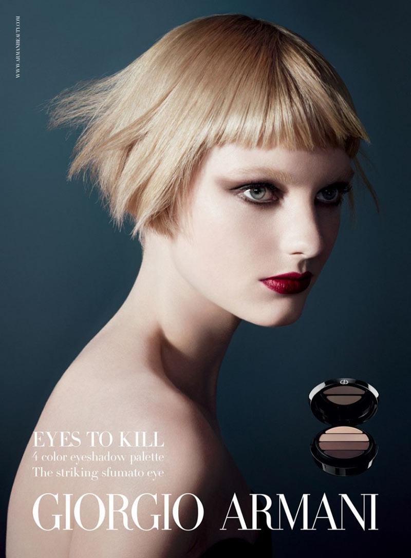 armani beauty1 Patricia van der Vliet and Elena Melnik Star in Giorgio Armani Beautys F/W 2012 Campaign