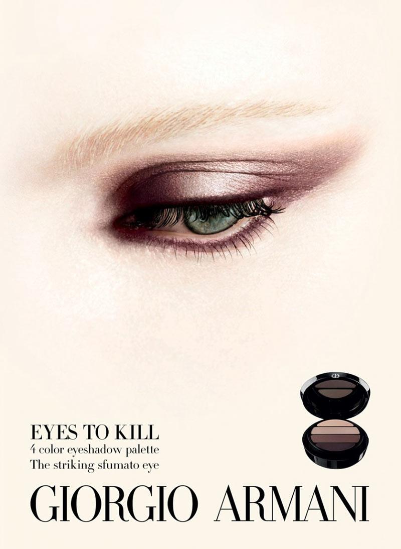 armani beauty2 Patricia van der Vliet and Elena Melnik Star in Giorgio Armani Beautys F/W 2012 Campaign