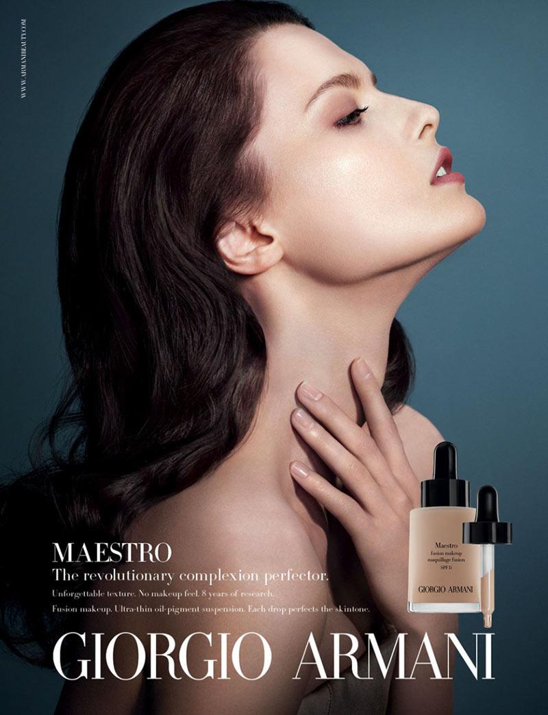 armani beauty5 Patricia van der Vliet and Elena Melnik Star in Giorgio Armani Beautys F/W 2012 Campaign