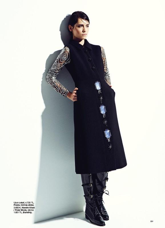 Romana Balazova Dons Evening Glam for Harper's Bazaar Turkey November 2012 by Ahmet Unver