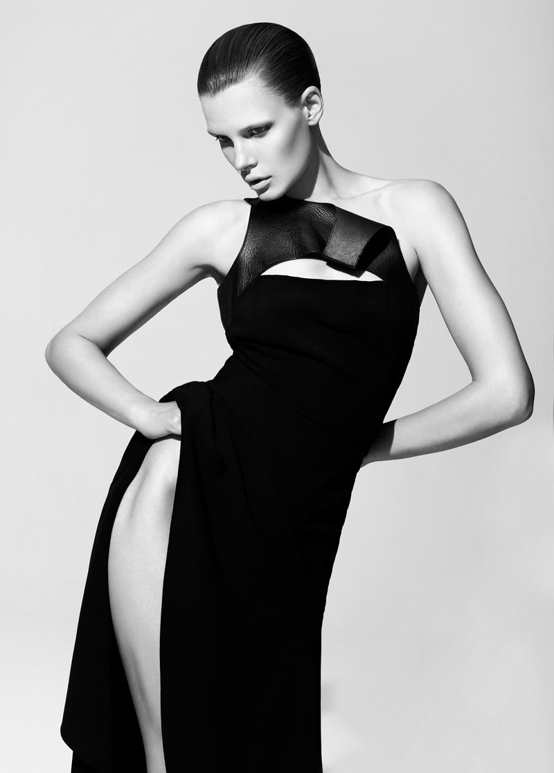 bekah jenkins11 Bekah Jenkins is Sleek and Sensual in Black for Bambi Magazine by Malina Corpadean
