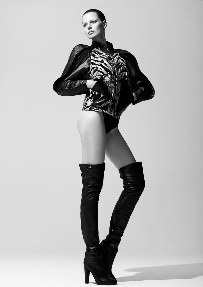 bekah jenkins5 Bekah Jenkins is Sleek and Sensual in Black for Bambi Magazine by Malina Corpadean