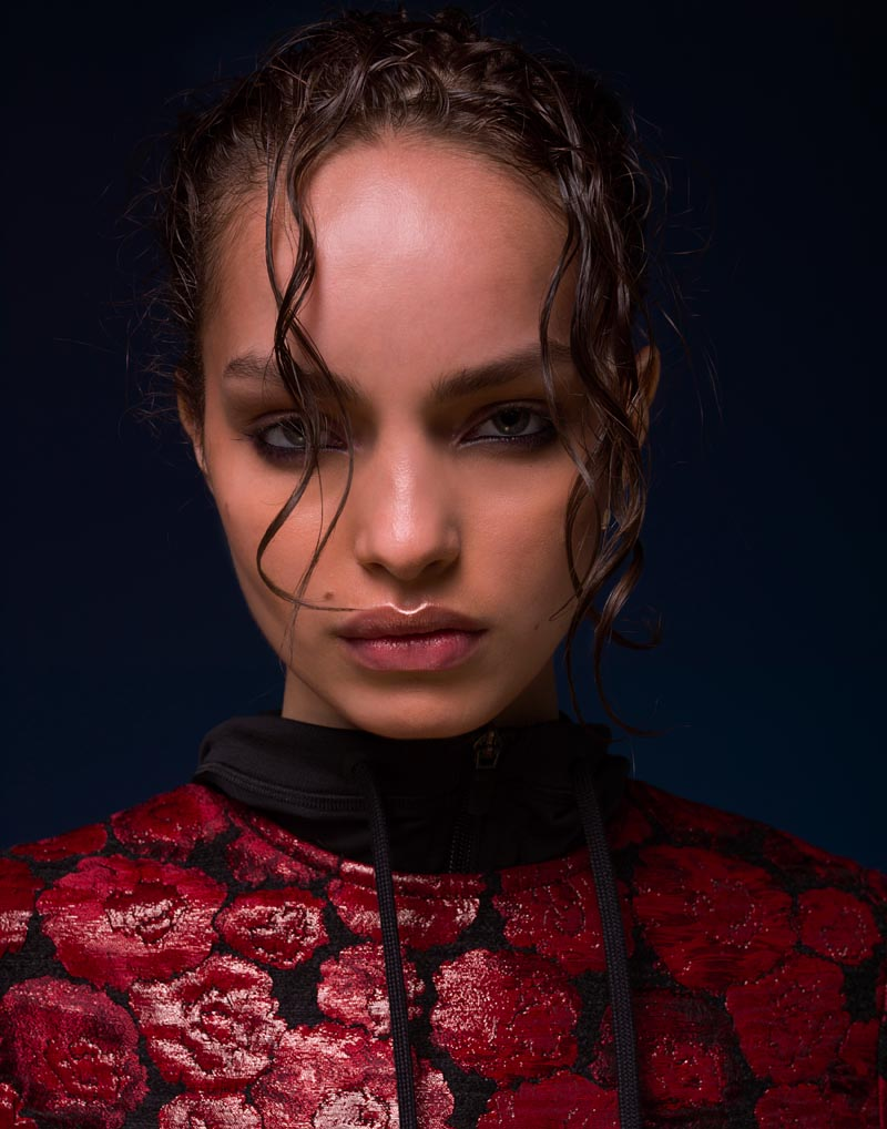 Luma Grothe Dons Sporty Florals for S Magazine, Shot by Neil Francis Dawson