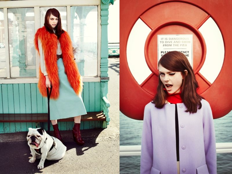 brighton4 Kate Pernell Travels to Brighton Beach for Elle Poland