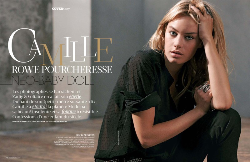 camille rowe2 Camille Rowe Covers Madame Figaro, Lensed by Eric Guillemain