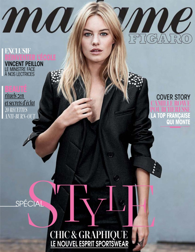 camille rowe5 Camille Rowe Covers Madame Figaro, Lensed by Eric Guillemain