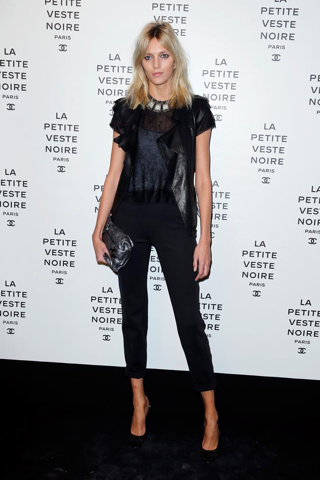chanel lbj1 Anja Rubik, Laetitia Casta, Carine Roitfeld and Others at Chanels the Little Black Jacket Exhibition