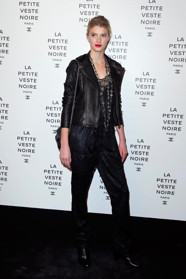 chanel lbj12 Anja Rubik, Laetitia Casta, Carine Roitfeld and Others at Chanels the Little Black Jacket Exhibition