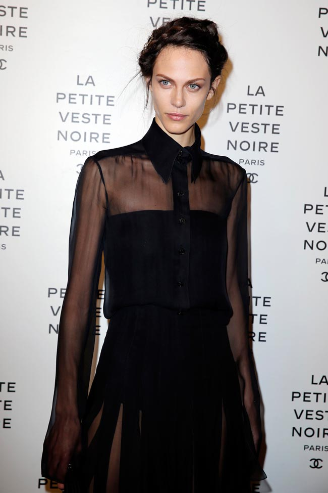 chanel lbj2 Anja Rubik, Laetitia Casta, Carine Roitfeld and Others at Chanels the Little Black Jacket Exhibition