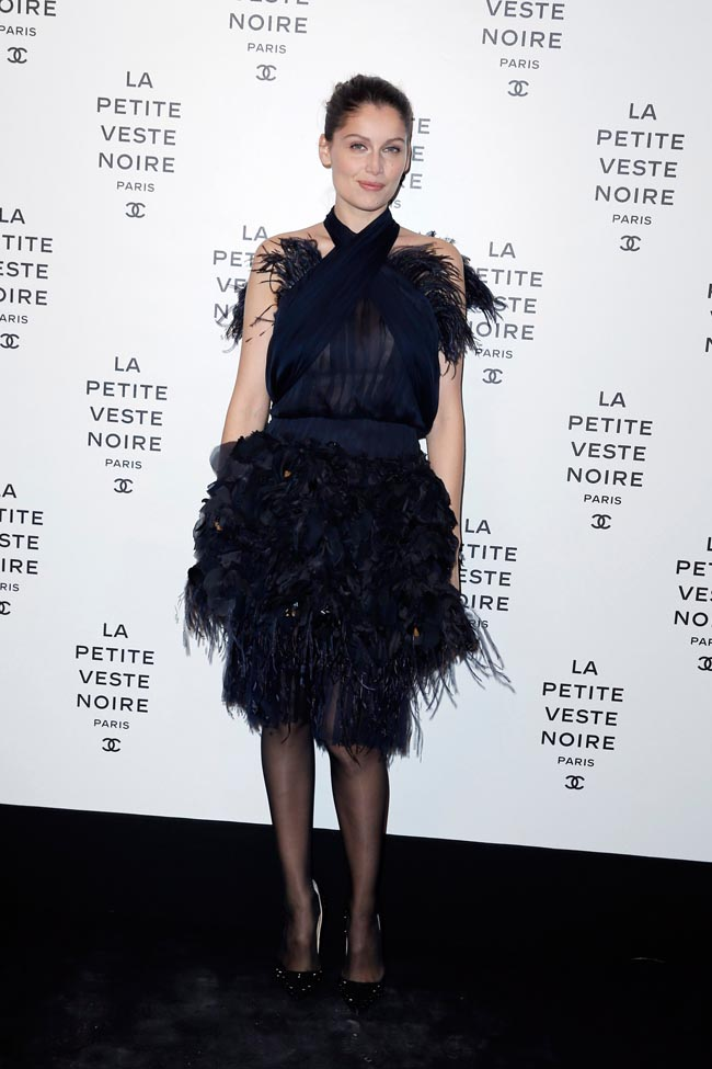 Anja Rubik, Laetitia Casta, Carine Roitfeld and Others at Chanel's the Little Black Jacket Exhibition