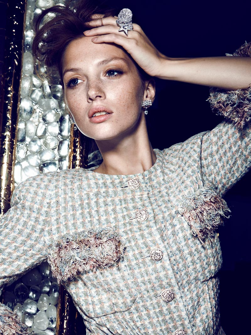 chanel mc1 Martina Prekopova Shines in Chanel for Santiago Estebans Marie Claire Mexico Shoot