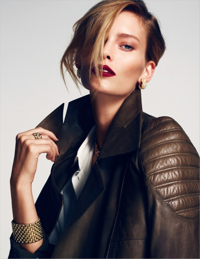 Charlotte Cordes Goes for the Gold in Emre Guven's Vogue Turkey Shoot