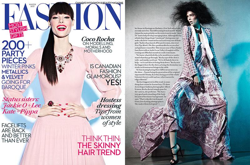 Coco Rocha Covers Fashion Canada's Winter 2013 Issue