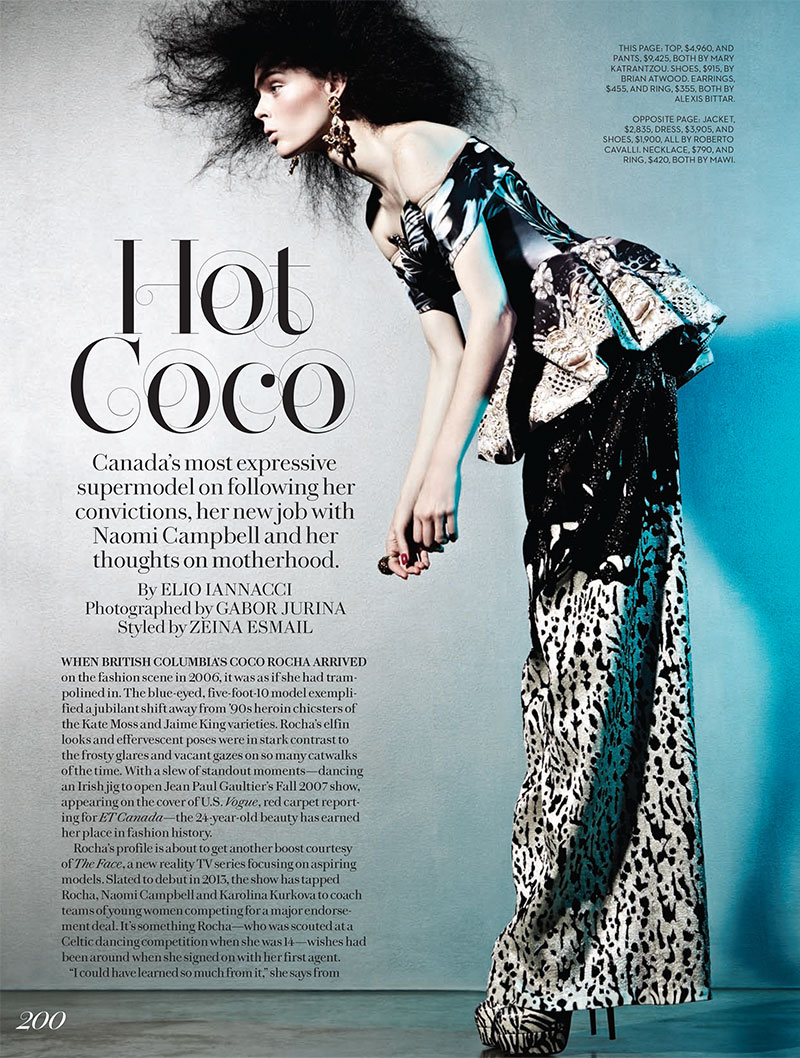 coco rocha1 Coco Rocha Covers Fashion Canadas Winter 2013 Issue