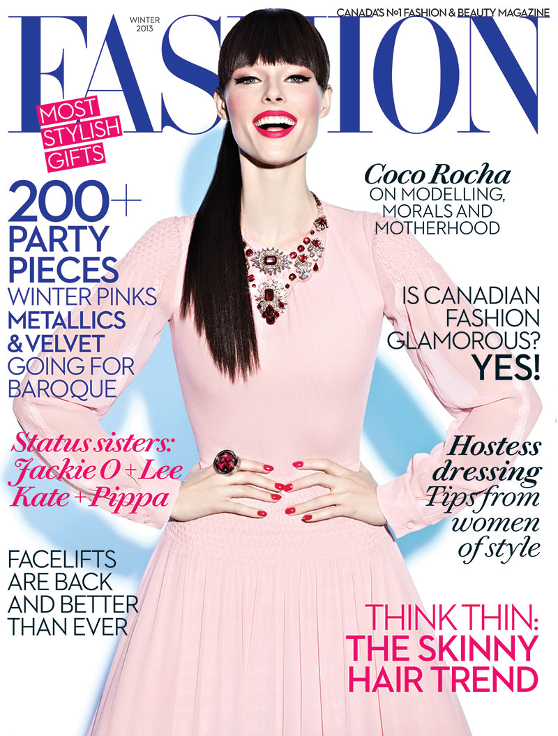 coco rocha5 Coco Rocha Covers Fashion Canadas Winter 2013 Issue