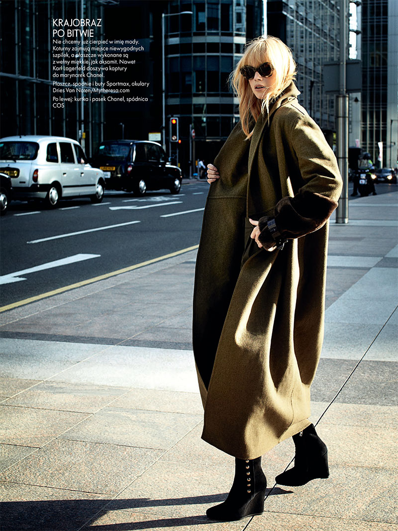 dasha6 Dasha Z. Takes the Military Trend to the Streets for Elle Polands November Issue