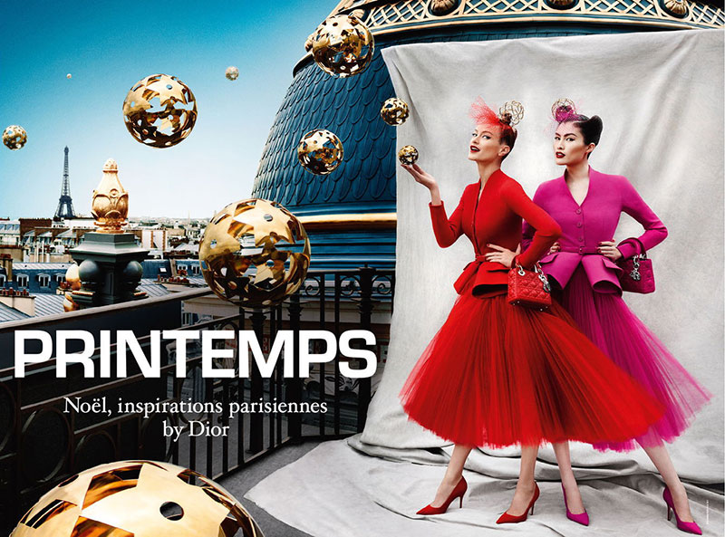 dior Carolyn Murphy and Sui He Star in Dior for Printemps Holiday 2012 Campaign by Mario Testino