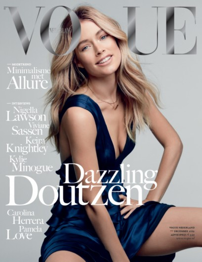 doutzencover Doutzen Kroes is All Smiles on the December 2012 Cover of Vogue Netherlands