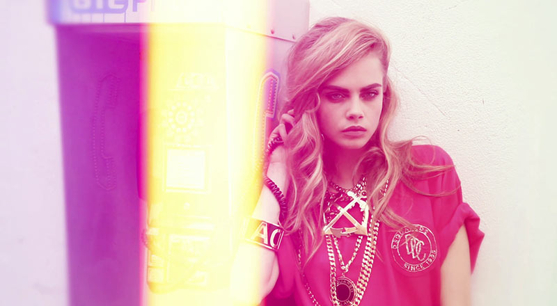 dsquared2 Cara Delevingne Stars in DSquared2s Resort 2013 Film, Ultimate Scream