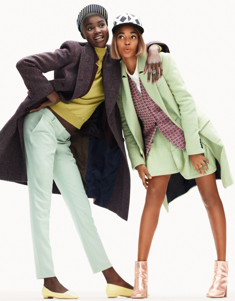 Ataui Deng and Marihenny Rivera Don Vivid Style for Elle France by Simon Burstall
