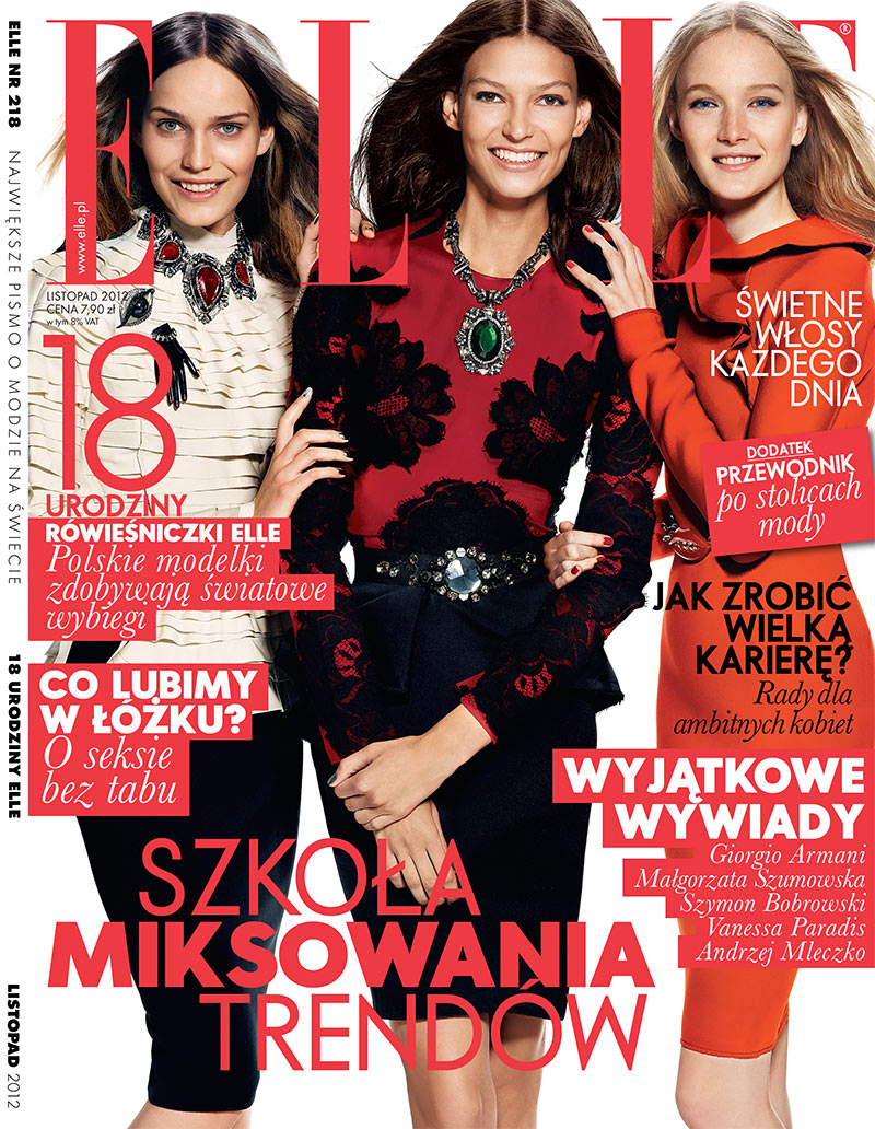 elle poland10 Emilia Nawarecka, Maja Salamon and Karolina Waz Are Jet Setters for Elle Polands November Cover Shoot