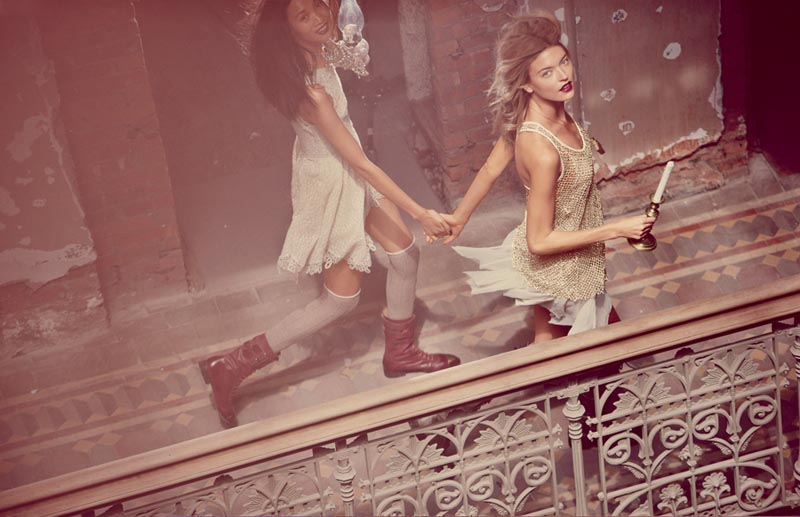 fp fairy3 Anais Pouliot and Andreea Diaconu Star in Free Peoples Fairytale Inspired November Catalogue