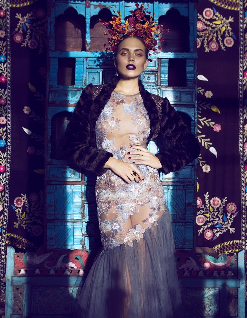 frida4 Åsa Engström Evokes Frida Kahlo in DV Mode by Fredrik Wannerstedt