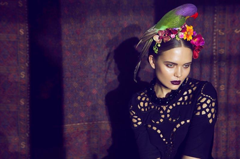 frida7 Åsa Engström Evokes Frida Kahlo in DV Mode by Fredrik Wannerstedt